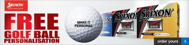Srixon free ball personalisation - from £17.99